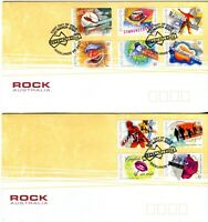 """2001 FDC x 2. Australia. Rock Australia. P&S. Pict.FDI """"ROCKLANDS"""""""