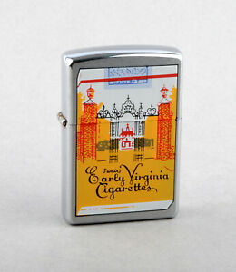Zippo 2000 Swain's Early Virginia Cigarettes Lighter (Brushed Chrome)