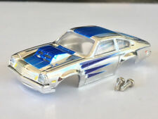 New Chrome / Blue Tjet Chevy Vega HO Slot Car Body Fits Aurora Dash Chassis