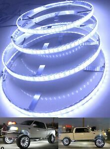 "Truck Illuminate LED Wheel Rim Light 4x 15.5"" Pure Brightest White Dual Row LEDs"