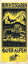Berchtesgaden Prospekt Bayern mit Wohnungskarte Au Scheffau Königssee um 1936