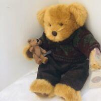 "RUSS BERRIE LIMITED EDITION Sir Duncan 12"" Teddy Bear With Baby Hand Tag COA"