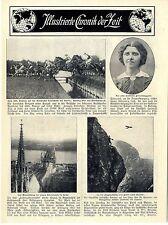 Primer vuelo de larga distancia París-Madrid * inauguración de los hohenzollernbrücke en colonia c.1911