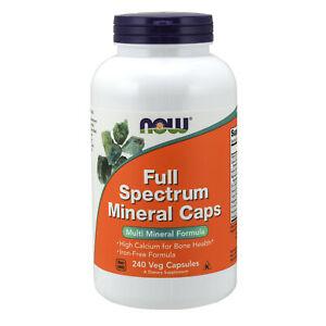 Full Spectrum Minerals 240 Veg Capsules Zinc Potassium Copper Chromium Iodine