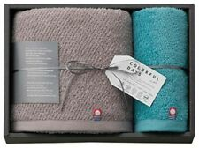 Imabari Trend Colorful Days Blue Hand & Grey Bath towel Gift Made in Japan New!!