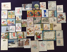 More details for job lot vintage used greetings cards - birthday, christmas, anniversary