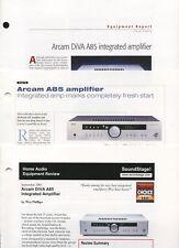 Arcam DiVA A85 Original Amplifier Brochures 2002