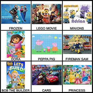 Personalised Kid's Character Puzzle - 120pc Jigsaw - Many Designs - Name Gift