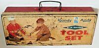 Vintage Handy Andy Blue Diamond Tool Set Metal BOX ONLY