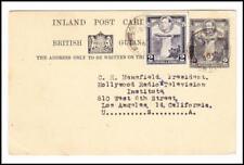 British Guiana Postal Card-HG:12-uprated-SG#309-E.C.RAILWAY 20/DE/46-