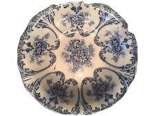 Antique Libertas: Prussian, Blue & White Serving Bowl - Rare!