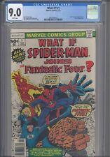What If? #1 CGC 9.0 1977 Marvel :Brief Origin Spider-Man & Fantastic Four