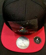 Air Jordan Red Black Baseball Cap Hat Boys Size 8/20 Youth Chrome Nike Logo Free