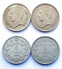 5 Francs 1932 Een Belga+ 5 Francs 1932 Un Belga. Belgique. Nickel