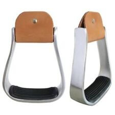 "2"" Western Aluminum Saddle Stirrups With Grip Rite Tread"