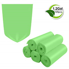 Biodegradable Trash Bags 1.2 Gallon Trash Garbage Compostable Recycling Rubbish