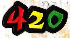 420 iron on patch Rasta Weed four twenty Patch