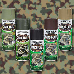 Camouflage Ultra Flat Non-Reflective Camo Spray Kit 5 Camo Colours Rust-Oleum