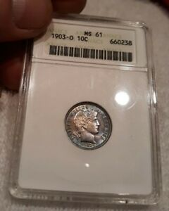 1903-O 10C Barber Dime Absolutely Gorgeous Choice/Gem Uncirculated
