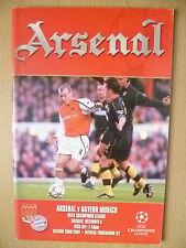 2000/01 L'UEFA de la Ligue des Champions-ARSENAL v BAYERN MUNICH ~ programme officiel