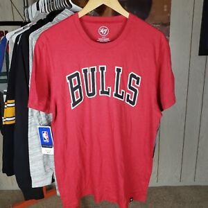 NWT Chicago Bulls Men Medium 47 Brand Jordan Last Dance Red Black Short sleeve