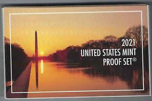 USA: United States Mint Proof Set 2021, 2,16 Dollar, 7 Münzen