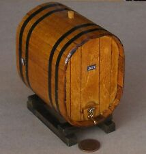1:12 Scale Large Oval Wooden 362L Wine Barrel On A Stand Tumdee Dolls House