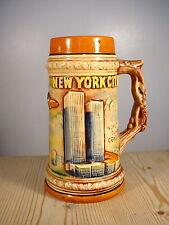 World Trade Center New York City Souvenir Pottery Tankard