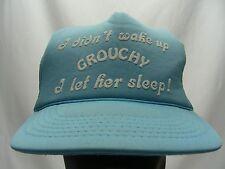I Didn't Wake Up GROUCHY VINTAGE 604ms Camionero Estilo Ajustable Gorra sombrero