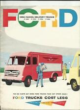 FORD P 350 P 400 P 500 PARCEL DELIVERY TRUCKS USA SALES BROCHURE 1958 MODEL YEAR