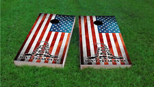 Dont Tread On Me American Flag Themed 2x4 Custom Cornhole Board Set w/Bags