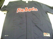 2014 Mississippi Rebels Signed Baseball Logo Team Jersey College World Series