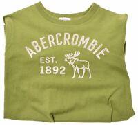 ABERCROMBIE Boys T-Shirt Top 15-16 Years XL Green Cotton  AP07