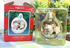 Enesco Cozy Cup ornament Christmas a song for Santa 1991 5th in series