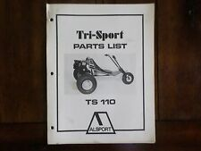 1974 Alsport Tri-Sport TS 110 Parts List Manual