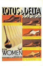Nostalgia Postcard Golf, Golfing Shoes for Women 1933 Fashion Repro Card NS52