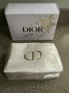 Christian Dior Stunning  White with sparkle cosmetic make up bag pouch - new