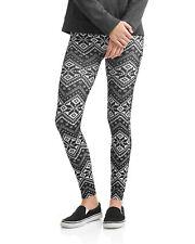 No Boundairies Fairisle Black /& White Print Ankle Leggings XXL