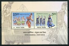 India 2018 MNH Traditional Dance JIS Armenia 2v M/S Costumes Dress Stamps