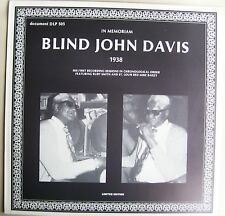Blind John Davis In memoriam 1938 LP Ruby Smith Limited Edition Blues
