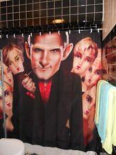 Todd Coats Hugh Hefner Mannequin Shower Curtain Playboy Club TV show  60's
