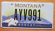 Montana 2006 MONTANA STATE UNIVERSITY BOBCAT COUNTRY License Plate NICE # AYV991