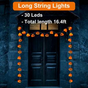 Halloween Lantern Battery Operated LED Fairy String Light Jack O' Lantern Decors