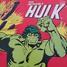 Vtg INCREDIBLE HULK Giant Puzzle 1977 Marvel Comics Incomplete AWESOME GRAPHICS