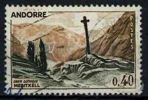 Andorra French SG#F175a 40c Gothic Cross Used #E27361