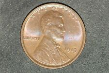 1919-P LINCOLN CENT- UNC BN  SOME RED