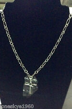 IMPORTED STERLING SILVER 92.5% OR .925 LOVELY INFINITY CROSS NECKLACE