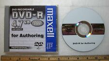 Maxell DVD-R 4.7GB High Capacity for Authoring Professional Disc