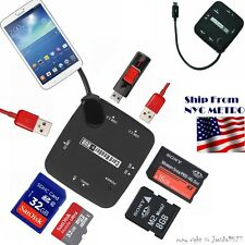 Micro USB HUB Host Adapter OTG Cable SDHC Card Reader For Google Nexus 5 7 10