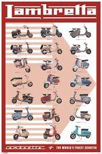 Poster LAMBRETTA SCOOTER - Evolution  NEU 57761
